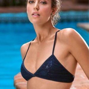 NWT PILYQ Sequin Bikini Top
